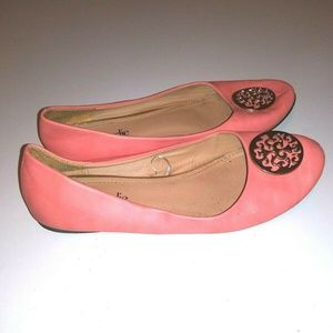 Charming Charlie Pink Shoes Ballerina Flats